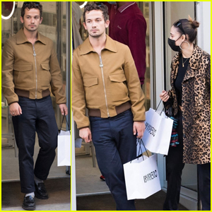 'Gossip Girl' Star Eli Brown Spends the Day Shopping with Friends in Paris