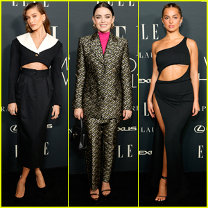 Hailey Bieber, Lucy Hale, & Addison Rae Go Glam for Elle's Women In Hollywood Event
