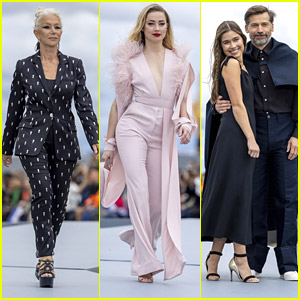 Amber Heard Hits The Runway With Helen Mirren & Nikolaj Coster-Waldau in Paris!