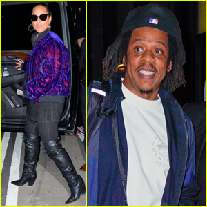 Alicia Keys Stops By Jay-Z's Office for a Meeting in NYC
