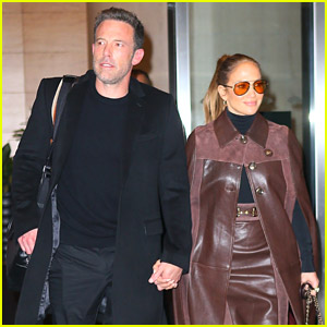 Jennifer Lopez & Ben Affleck Check Out Of Their Hotel After Attending 'The Last Duel' Premiere Together