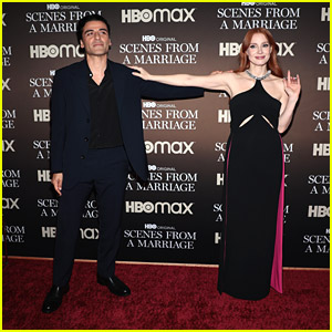 Jessica Chastain & Oscar Isaac Celebrate Series Finale of 'Scenes From A Marriage' In NYC