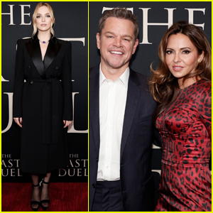 Jodie Comer Joins Matt Damon & Wife Luciana at 'The Last Duel' Premiere in NYC