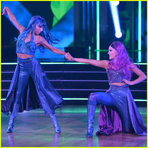 JoJo Siwa Dances A 'Descendants' Inspired Duel With Jenna Johnson on 'Dancing With The Stars' Villains Night - Watch!