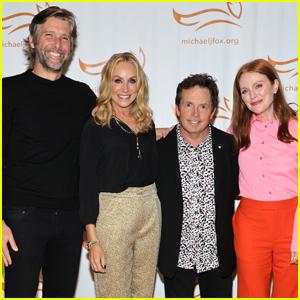 Julianne Moore & Husband Bart Freundlich Show Their Support at Michael J. Fox's Parkinson's Gala
