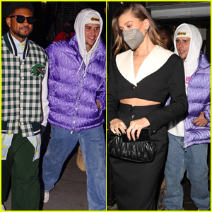 Justin Bieber Meets Up with Usher for a Basketball Game Before Joining Wife Hailey for Dinner