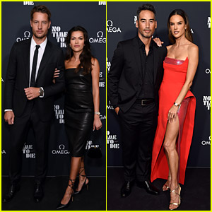 Justin Hartley & Alessandra Ambrosio Bring Their Significant Others to 'No Time to Die' Screening with Daniel Craig
