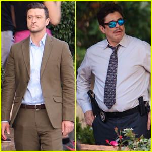 Justin Timberlake & Benicio Del Toro Get to Work on Their New Movie 'Reptile'