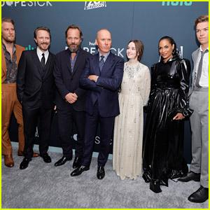 Michael Keaton, Kaitlyn Dever & Rosario Dawson Premiere 'Dopesick' in NYC