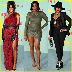 Kelly Rowland, Tiffany Haddish & Taraji P. Henson Step Out in Style For 'The Harder They Fall' Premiere in LA
