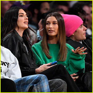Kendall Jenner Sits Next To Hailey Bieber While Cheering On Boyfriend Devin Booker at Suns & Lakers Game in LA