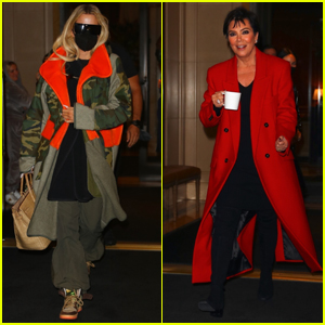 Khloe Kardashian & Kris Jenner Jet Out of NYC After Supporting Kim Kardashian on 'SNL'