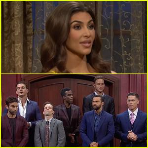 Kim Kardashian Spoofs 'The Bachelorette' on 'Saturday Night Live' with Chace Crawford, Jesse Williams, & John Cena - Watch!