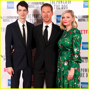 Kirsten Dunst & Benedict Cumberbatch Join Kodi Smit-McPhee at 'The Power of the Dog' Premiere in London