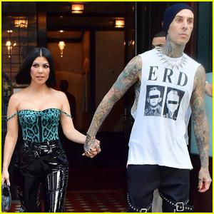Kourtney Kardashian & Travis Barker Hold Hands Heading to 'Saturday Night Live' Studios