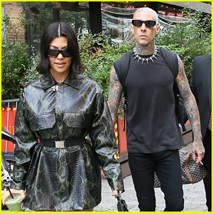 Kourtney Kardashian Looks So Fierce with Boyfriend Travis Barker While in NYC for 'SNL'