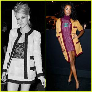 Kristen Stewart, Bridgerton's Simone Ashley, & More Attend the Chanel Fashion Show in Paris