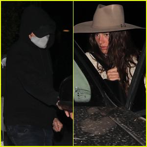 Leonardo DiCaprio & Girlfriend Camila Morrone Keep a Low Profile While Leaving Dinner in Santa Monica