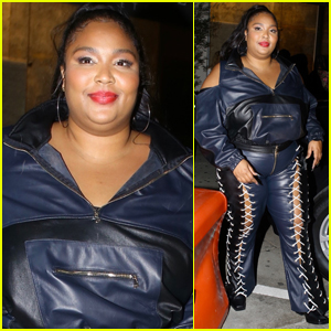 Lizzo Rocks Laced-Up Leather Pants to Dinner in West Hollywood