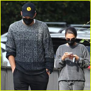 Mila Kunis & Ashton Kutcher Wear Cozy Fall Fashions While Running Errands