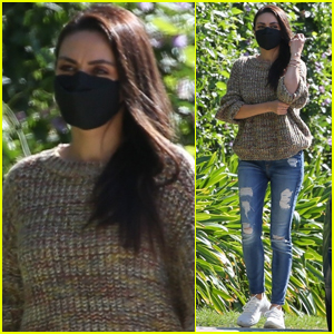 Mila Kunis Embraces Sweater Weather While Heading to Afternoon Meeting