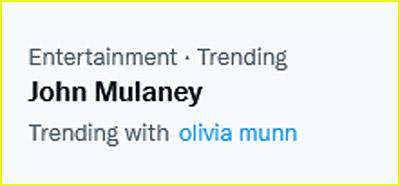 John Mulaney and Olivia Munn are trending