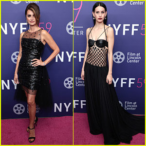 Penelope Cruz & Milena Smit Stun in Chic Black Dresses For 'Madres Paralelas' Premiere in NYC