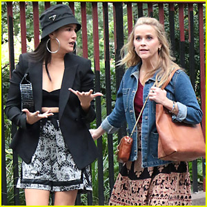 Reese Witherspoon & Zoe Chao Walk & Talk on 'Your Place Or Mine' Set
