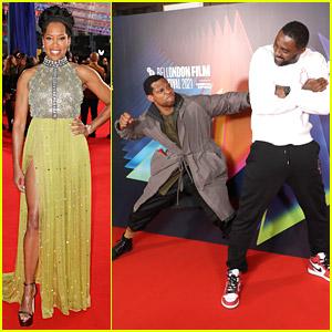 Regina King Joins Idris Elba, Jonathan Majors & Producer Jay-Z at 'The Harder They Fall' Premiere in London