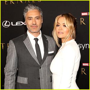 Rita Ora & Taika Waititi Support Marvel's Latest Movie at 'Eternals' Premiere!