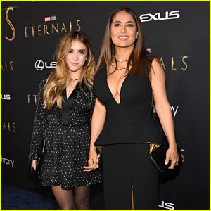 Salma Hayek's 14-Year-Old Daughter Valentina Is All Grown Up in Rare Public Appearance!