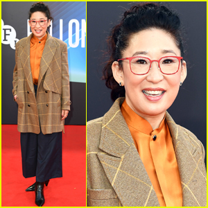 Sandra Oh Steps Out for 'The French Dispatch' Screening at BFI London Film Festival 2021