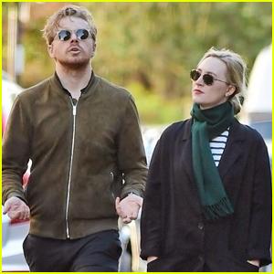 Saoirse Ronan & Boyfriend Jack Lowden Go for a Walk Around London