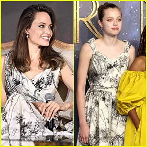 Shiloh Jolie-Pitt Wears Mom Angelina Jolie's Dior Dress To 'Eternals' London Premiere!