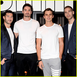 Simon Huck Supports Hubby-to-Be Phil Riportella at Snif Launch Event with Antoni Porowski & More