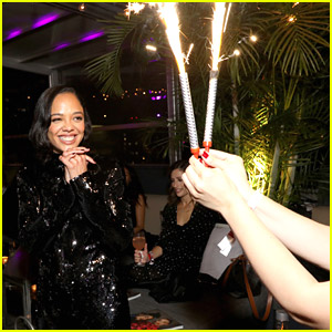 Tessa Thompson Celebrates Her 38th Birthday During 'Passing' Reception in NYC
