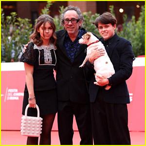 Tim Burton Makes Rare Public Appearance With His & Helena Bonham Carter's Kids!