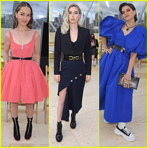 Emilia Clarke, Vanessa Kirby & Soko Stun at Alexander McQueen Fashion Show in London