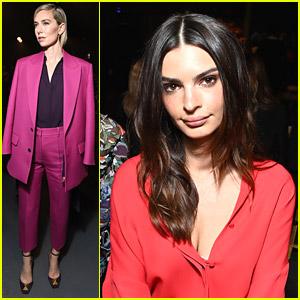 Vanessa Kirby & Emily Ratajkowski Sit Front Row at Valentino's Fashion Show in Paris