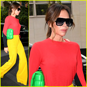 Victoria Beckham Rocks A Bright Outfit For 'Good Morning America' Appearance