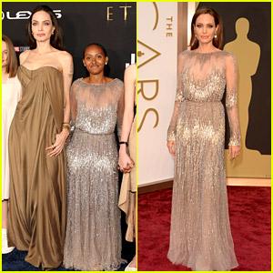 Zahara Jolie-Pitt Wears Mom Angelina Jolie's Oscars Dress from 2014 at the 'Eternals' Premiere