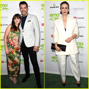 Zooey Deschanel & Jonathan Scott Join Sarah Paulson at EMA Awards Gala 2021